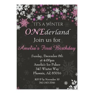 Invitación de ONEderland del invierno, primera, 1r