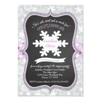 Invitación de ONEderlandmBirthday del invierno del