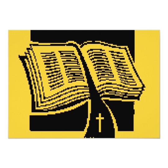 Invitación de oro de la biblia y del diseñador de