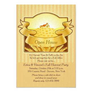 Invitación de oro de la cosecha invitación 12,7 x 17,8 cm