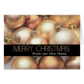 Invitación de oro de la dirección del navidad de l felicitaciones