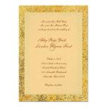 Invitación de oro de lujo del boda de la caída invitación 12,7 x 17,8 cm