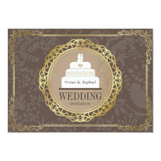 Invitación de oro del boda de la torre del