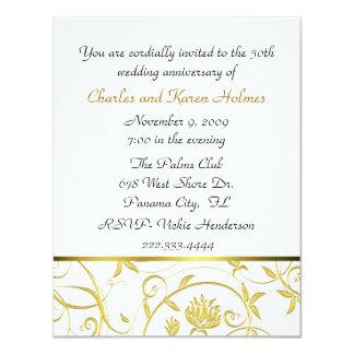 Invitación de oro elegante del aniversario