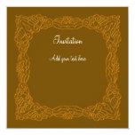 Invitación de oro invitación 13,3 cm x 13,3cm