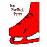 invitación de Paisley del fiesta del patinaje de h Tarjetas Postales
