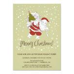 Invitación de Papá Noel y de la celebración de