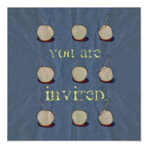 invitación de papel de la cereza