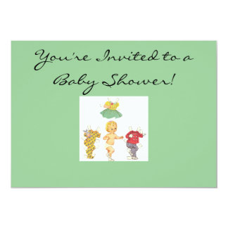 Invitación de papel de la fiesta de bienvenida al
