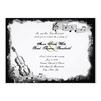 Invitación de papel rasgada enrrollada del boda de