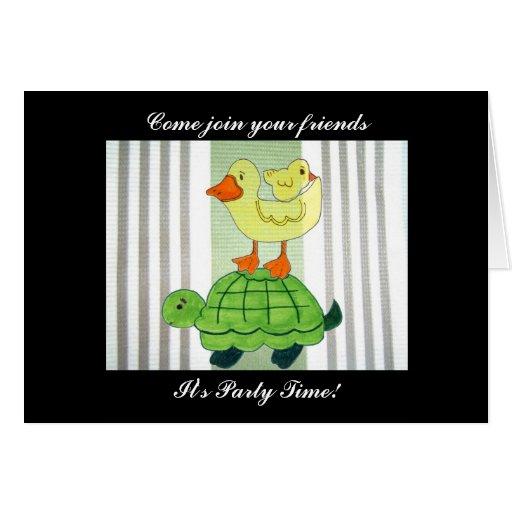 Invitación de Partytime - espacio en blanco Tarjeta De Felicitación
