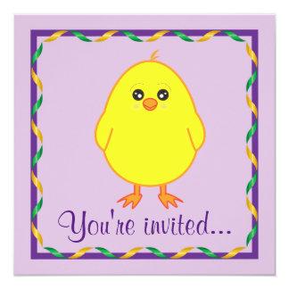 Invitación de Pascua con el polluelo