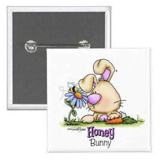 Invitación de Pascua del conejito de la miel Pins
