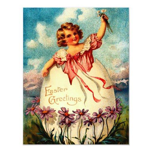 Invitación de Pascua del vintage