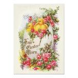 Invitación de Pascua del vintage de los polluelos Invitación 12,7 X 17,8 Cm