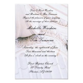 Invitación de piedra del boda del pilar