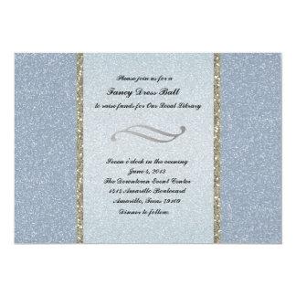 Invitación de plata azul de lujo del invitación 12,7 x 17,8 cm