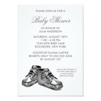 Invitación de plata de la fiesta de bienvenida al