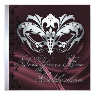 Invitación de plata de los Años Nuevos de Borgoña