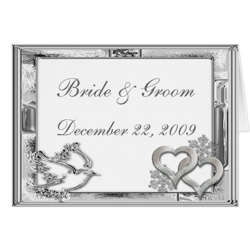 Invitación de plata del boda del invierno tarjetas