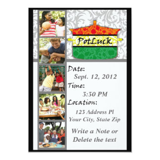 Invitación de PotLuck Invitación 12,7 X 17,8 Cm