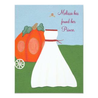 Invitación de princesa Pumpkin Carriage Bridal