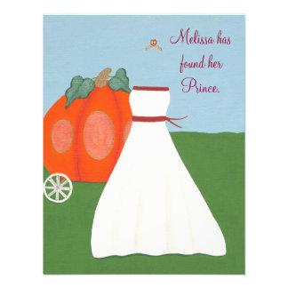 Invitación de princesa Pumpkin Carriage Bridal Sho