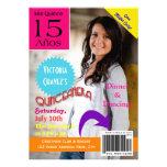 Invitación de Quinceanera de la portada de revista