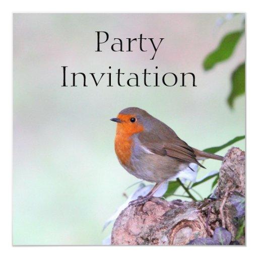 Invitación de Redbreast del petirrojo