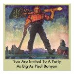 Invitación de registración gigante del fiesta de m
