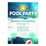 Invitación de restauración del cumpleaños de la fi