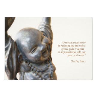 Invitación de risa de Buda Invitación 12,7 X 17,8 Cm