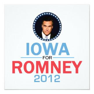 Invitación de Romney Iowa Invitación 13,3 Cm X 13,3cm