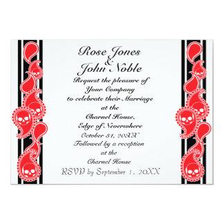 Invitación (de rubíes) anversa del boda