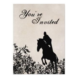 Invitación de salto del cumpleaños del caballo del