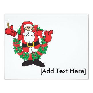 Invitación de Santa que sorbe, [añada el texto