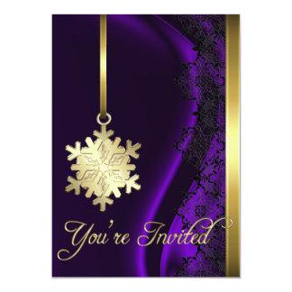 Invitación de seda púrpura de la decoración del