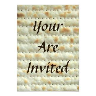 Invitación de Seder del Passover del Matzoh