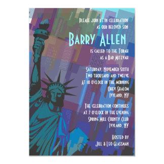 Invitación de señora Liberty Bar Bat Mitzvah de