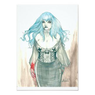 Invitación de Shannon del vampiro Invitación 12,7 X 17,8 Cm