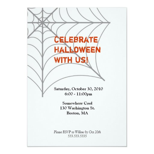 Invitación de Spiderweb Halloween
