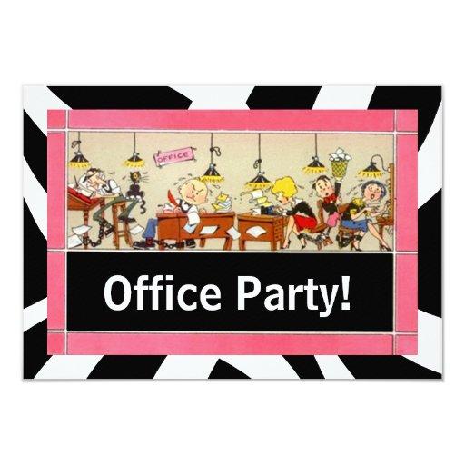 Invitación de trabajo dura del equipo del fiesta
