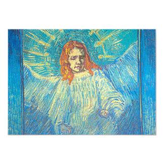 """Invitación de un ángel de Van Gogh """"media figura"""""""