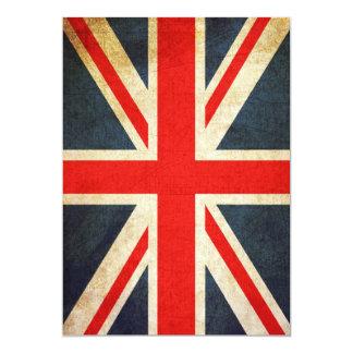 Invitación de Union Jack del Grunge (vertical)
