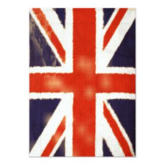Invitación de Union Jack del vintage (vertical)