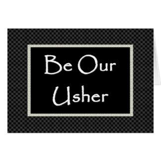 Invitación de USHER con la frontera comprobada Tarjeton