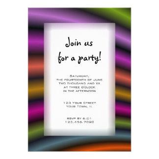Invitación de uso múltiple del fiesta de las rayas