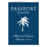 Invitación de Weddding del pasaporte de Puerto Peñ Tarjetas