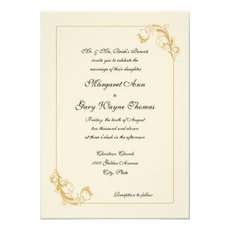 Invitación decorativa clásica del boda de la