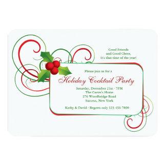 Invitación del acebo del día de fiesta